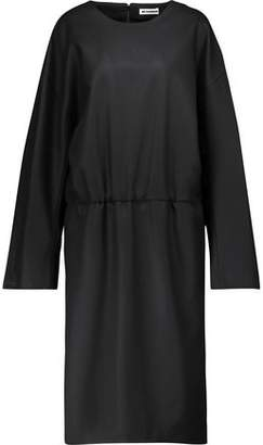 Jil Sander Gathered Wool-Sateen Dress
