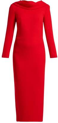 Carl Kapp - Noah Cowl Neck Wool Dress - Womens - Red