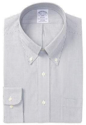 Brooks Brothers Mini Grid Slim Fit Dress Shirt
