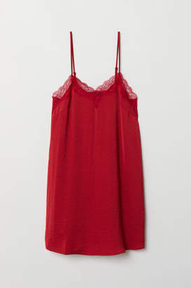 H&M Nightgown with Lace Trim - Red