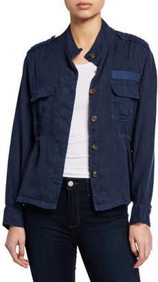 Rails Sahara Linen Button-Front Utility Jacket