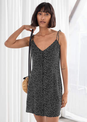 And other stories Spaghetti Tie Strap Mini Dress
