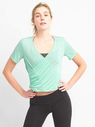 Gap GapFit Faux-Wrap Top