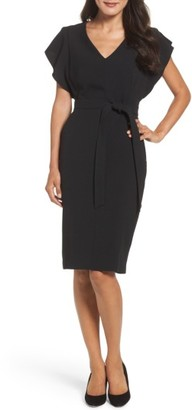 Women's Eliza J Ruffle Sleeve Sheath Dress $148 thestylecure.com