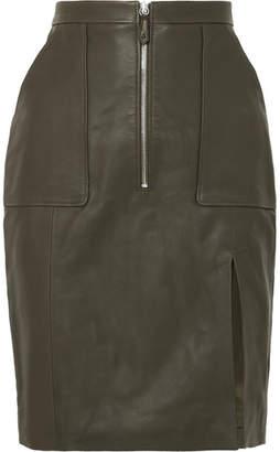 Altuzarra Pollard Leather Skirt - Dark green