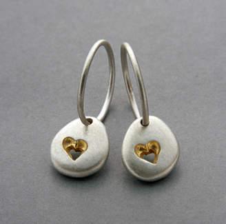 Neve Latham & Pebble Hoop Earrings