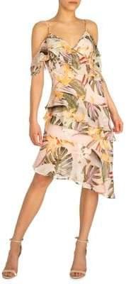 GUESS Danie Cold-Shoulder Fit--Flare Dress