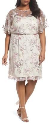 BRIANNA Embroidered Blouson Dress