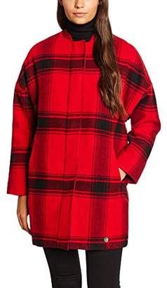 Lee Women's Wool Cocoon Coat Jacket, Red (Primary RED), 34 (Manufacturer Size: )