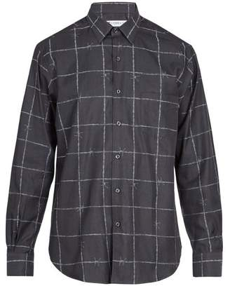 Cobra S.c. - Barbed Wire Jacquard Cotton Shirt - Mens - Black