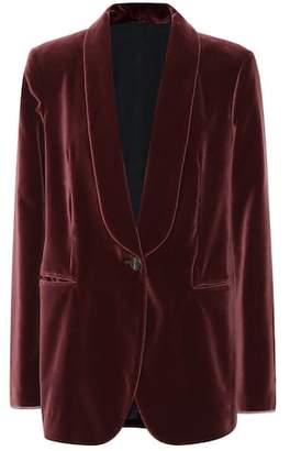Brunello Cucinelli Velvet cotton blazer