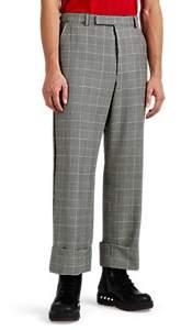 Thom Browne Men's Grosgrain-Trimmed Glen Plaid Cuffed Trousers - Black