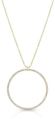 Dominique Cohen 18k Gold Diamond Hoop Pendant Necklace (Large)