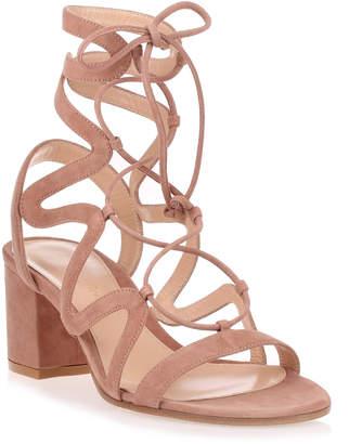 Gianvito Rossi Artemis 60 Praline suede sandal