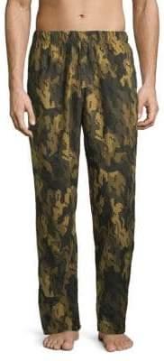 Michael Kors Camo Printed Fleece Pants