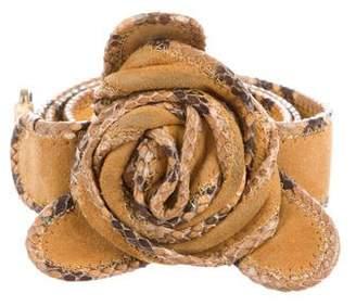 Marc Jacobs Suede Flower Waist Belt