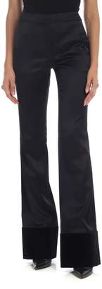 Moschino Tuxedo Trousers With Velvet Inserts