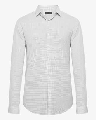 Theory Cotton Check Slim-Fit Shirt With Spread Collar
