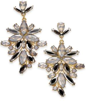 """INC International Concepts I.n.c. Extra Large Gold-Tone Crystal Statement Earrings, 2.75"""", Created for Macy's"""