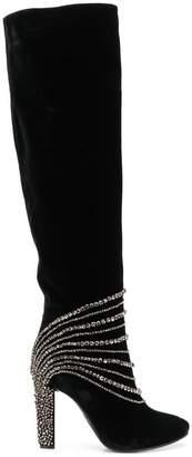 Alberta Ferretti stud embellished boots