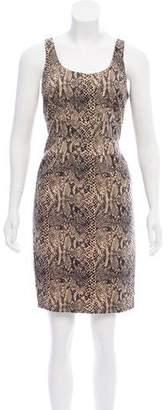 MICHAEL Michael Kors Python-Print Sleeveless Dress