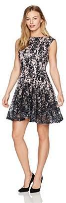 Julian Taylor Women's Petite Chandelier Printed Lace Dress