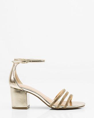 Le Château Jewelled & Metallic Ankle Strap Sandal