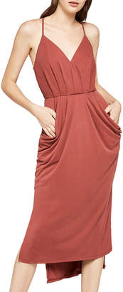 BCBGeneration Faux-Wrap Sleeveless Sheath Dress