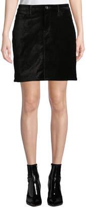 7 For All Mankind Jen7 by Stretch Velvet Straight Mini Skirt