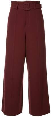 G.V.G.V. Cady belted wide leg trousers