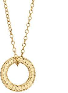 Anna Beck Plated Circle of Life Open 'O' Charity Necklace 16-18""
