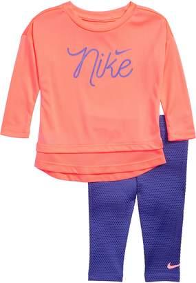 Nike Dry Mesh Tunic & Leggings Set