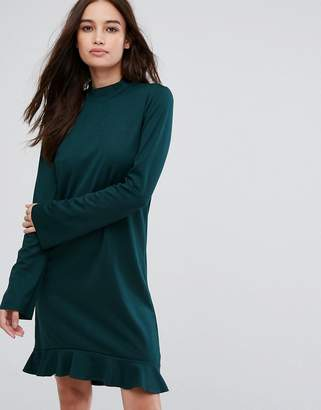 Vila Frill Hem Long Sleeve Dress