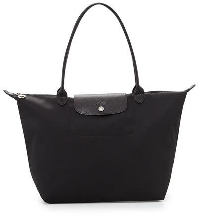 Longchamp Le Pliage Néo Large Nylon Tote Bag, Black