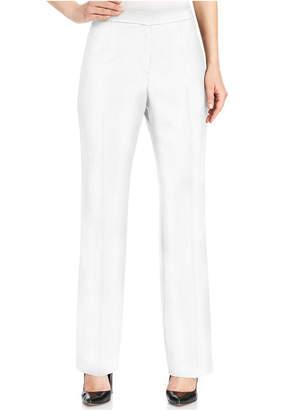 Kasper Petite Straight-Leg Crepe Pants