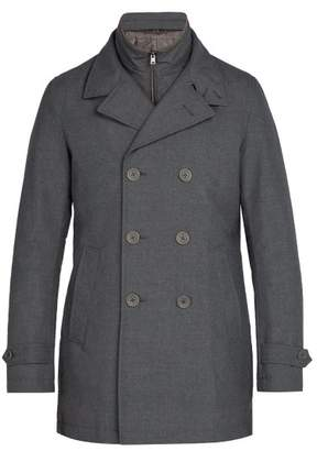 Herno - Padded Lining Double Breasted Coat - Mens - Grey