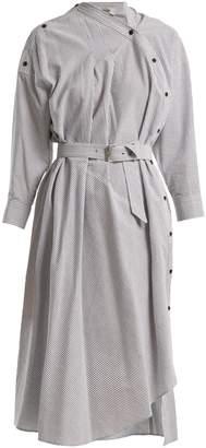 Welcome asymmetric-detail striped cotton dress Rachel Comey lHhKzpPxp