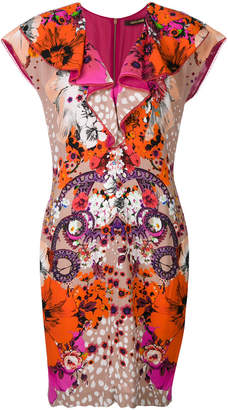 Roberto Cavalli printed shift dress