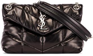 Saint Laurent Small Monogramme Puffer Loulou Shoulder Bag in Black   FWRD
