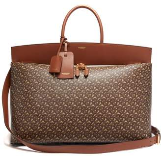 Burberry Society Extra Large Monogram Print Canvas Holdall - Mens - Brown