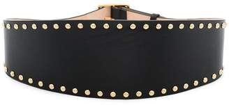 Alexander McQueen black studded leather belt