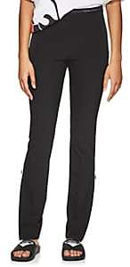Prada Women's Logo-Waist Stretch-Twill Leggings - Black