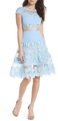 Bronx AND BANCO Flamenco Lace Fit & Flare Dress