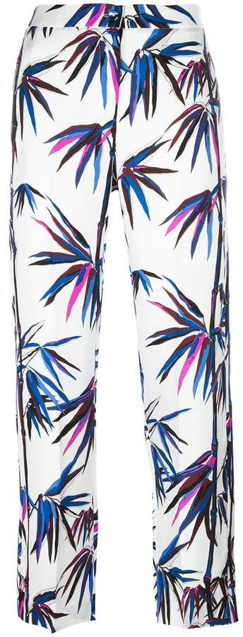 Emilio Pucci tree print cropped trousers