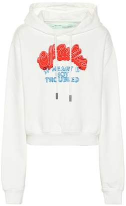 Off-White Heart Not Troubled cotton hoodie