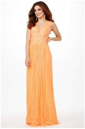 Jovani Lace Orange Gown