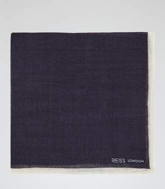 Reiss Crespa - Wool Pocket Square in Navy