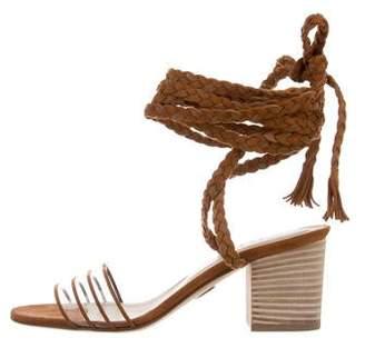 Ritch Erani NYFC Suede PVC-Trimmed Sandals