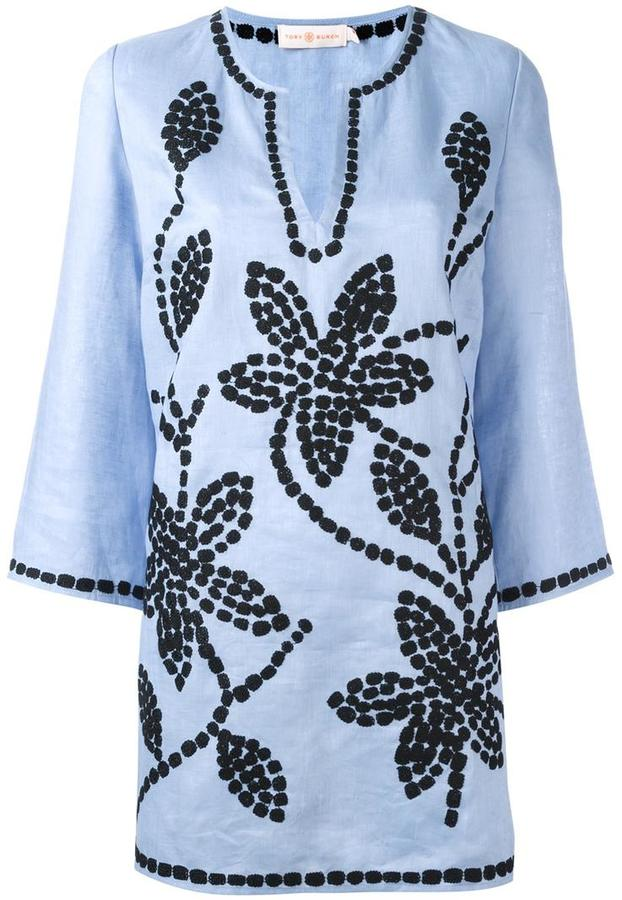 Tory BurchTory Burch floral embroidered tunic
