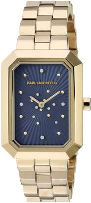 Karl Lagerfeld Women's 'Linda' Quartz Stainless Steel Casual Watch, Color:Gold-Toned (Model: KL6100)